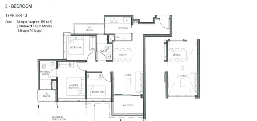 parc-clematis-floor-plan-3-bedroom-type-3