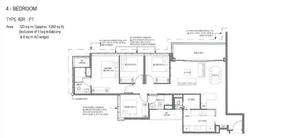 parc-clematis-floor-plan-4-bedroom-type-p1