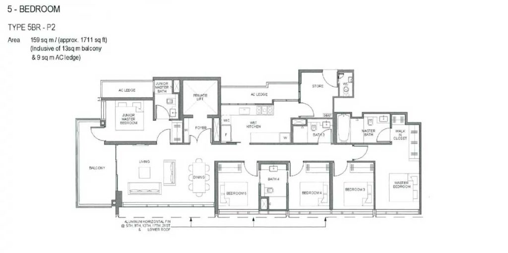 parc-clematis-floor-plan-5-bedroom-type-p2